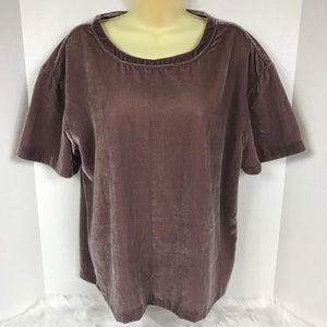 NWT Calvin Klein Jeans Velour Rose Ash T-Shirt Top
